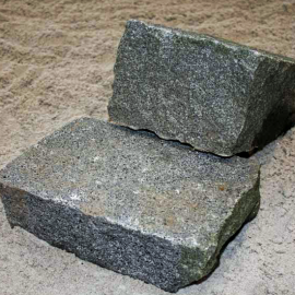 Klostersten (Håndhugget) - Gråblå-G654 - 14x21x10 cm