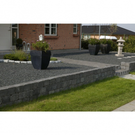 Holmegaardsten 14x21x14 cm - Kantblokke - Sort/Antracit
