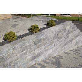 Holmegaardsten 21x42x14 cm - Kantblokke - Gråmix