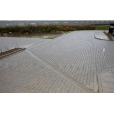 Vandrender 30x60x10/8 cm - Rund - Grå