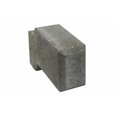 Danblokke 12,5x34x17 cm - 1/2 blok - Grå