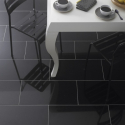 Absolute Black Poleret Granitflise - overflade m/fas - 30,5x61x1 cm
