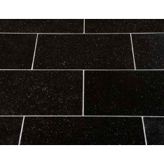Black Galaxy Poleret Granitflise - overflade m/fas - 30,5x61x1 cm