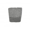 Holmegaardsten 14x13/9x5,5 cm - Cirkelsten lille - Sort/Antracit