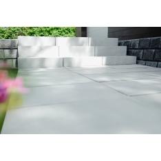 IBF SoftLine Trappetrin 60x30x18 cm Soft fas kanter - Naturgrå