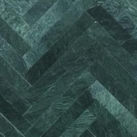 Grøn Marmor Sokkellister - poleret m/fas - 7x61x1,2 cm