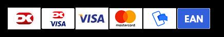 Du kan betale sikkert med Dankort, Visa/Dankort, Visa, Mastercard, MobilePay og EAN-nummer til offentlige kunder